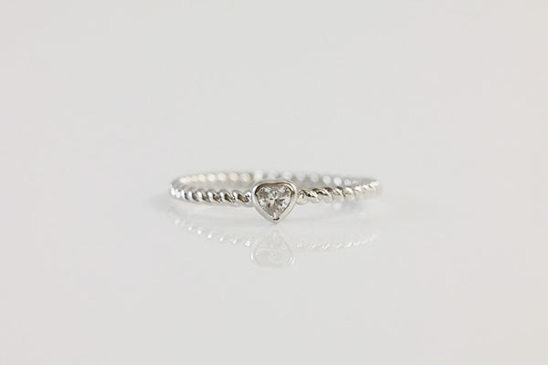 Sterling Silver Twisted Ring Set - SDG by Grace