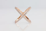 Sterling Silver X Pave Ring - SDG by Grace