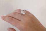 Sterling Silver Champagne Double Halo Ring - SDG by Grace