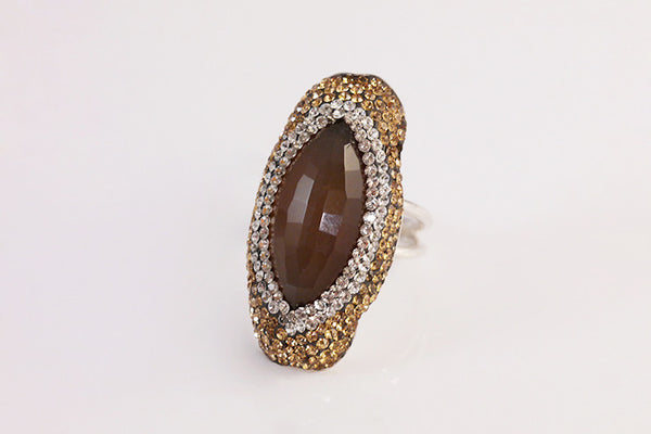 Sterling Silver Golden Agate Ring - SDG by Grace
