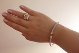 Head Lock Italian Silver Bracelet, Rose - SDG by Grace