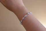Sterling Silver Pear and Marquise Crystal Bracelet - SDG by Grace