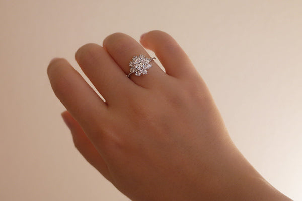 Sterling Silver Small Flower Ring - SDG by Grace