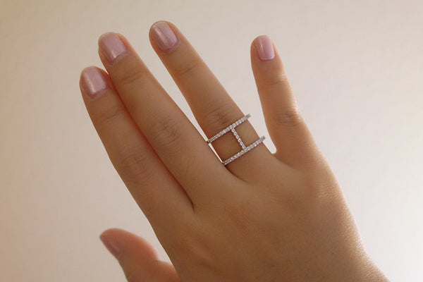 Sterling Silver H Line Ring - SDG by Grace