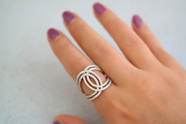 Sterling Silver Double Hoop Ring - SDG by Grace