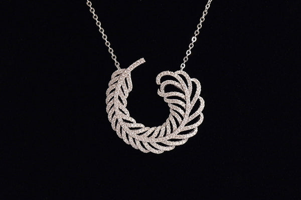 Sterling Silver Angel's Feather Necklace - SDG by Grace