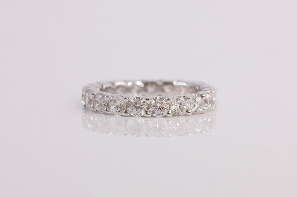 Sterling Silver Brilliant Eternity Ring, 3mm - SDG by Grace