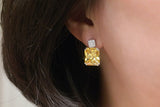 Sterling Silver Citrine Yellow Crystal Earrings - SDG by Grace