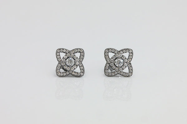 Sterling Silver Flower Stud Earrings (4 Colors) - SDG by Grace