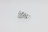 Sterling Silver Five Row Bling Ring - SDG by Grace