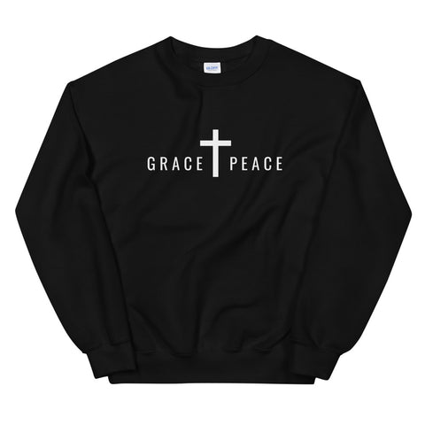 GRACE + PEACE Sweatshirt (Dark Colors) | Unisex