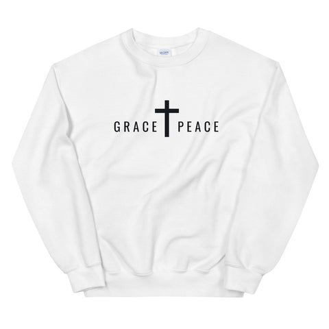 GRACE + PEACE Sweatshirt (White) | Unisex