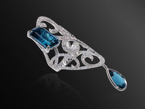 Jaipur Diamond and Topaz Ring