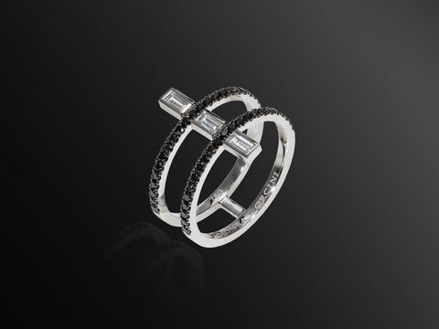 Linee Misteriose Black Diamond Mini Ring
