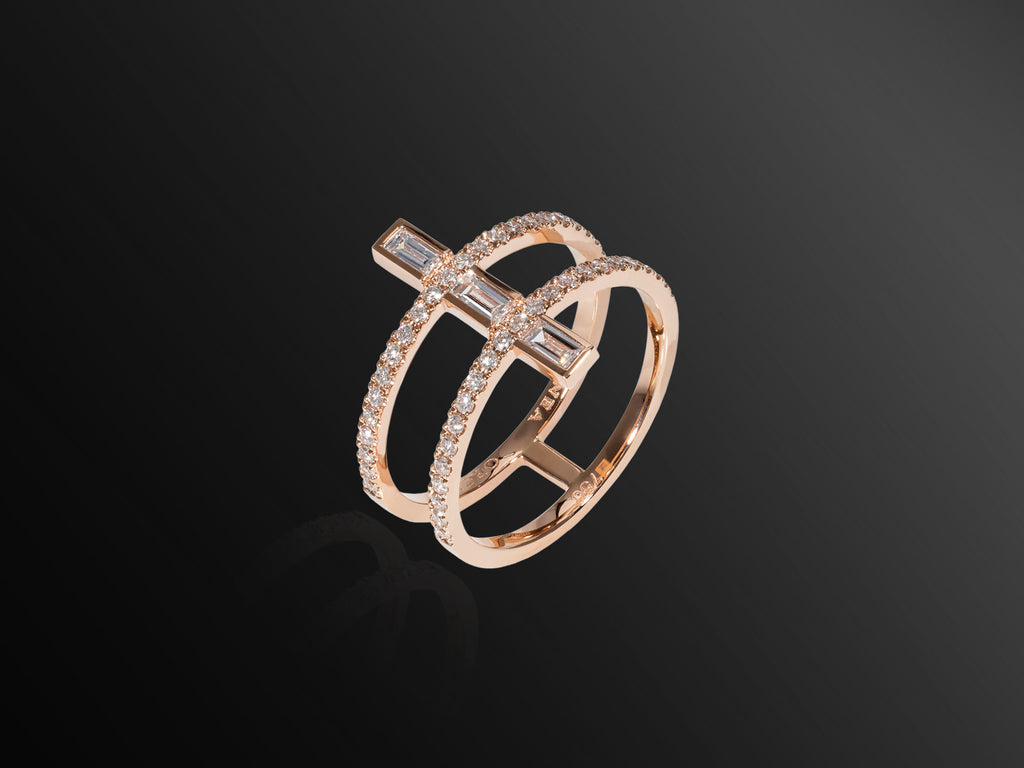 Linee Misteriose Diamond Mini Ring