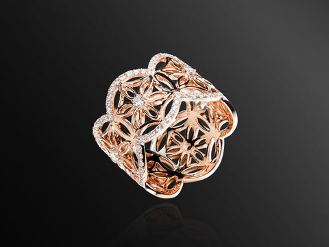 Semiramis Mini Ring in Rose Gold
