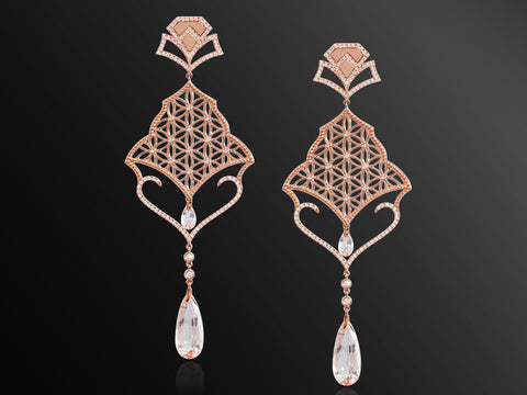Semiramis Rose Gold Earrings