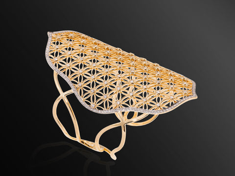 Semiramis Cuff in Yellow Gold