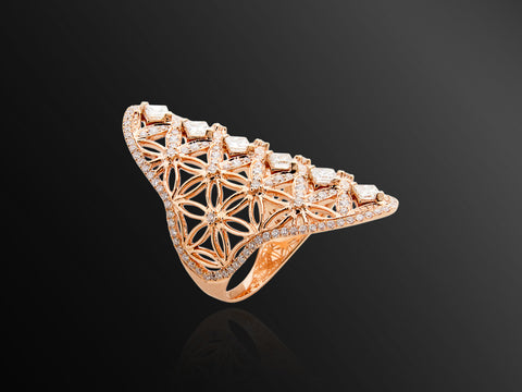 Semiramis Ring in Rose Gold