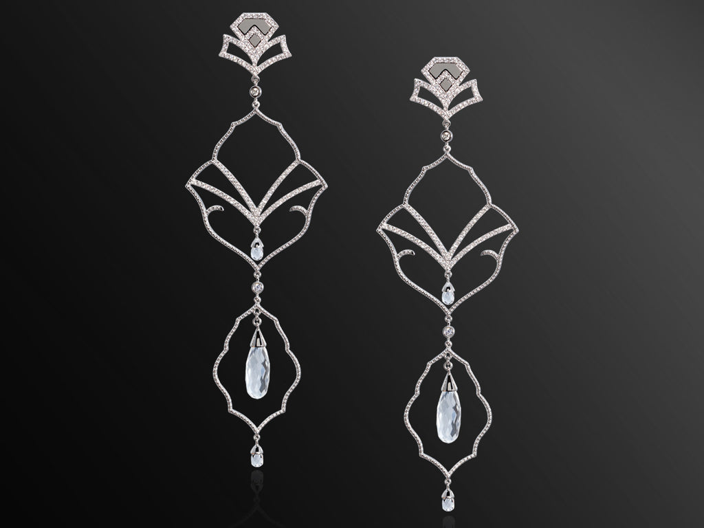 Semiramis White Gold Earrings
