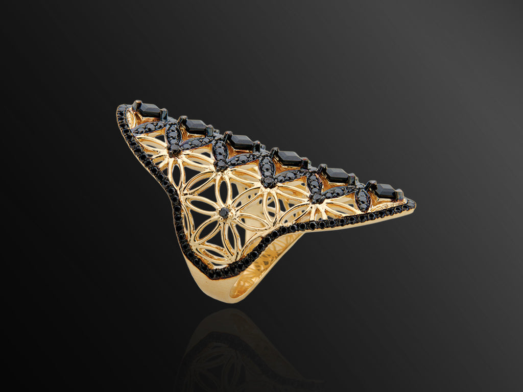 Semiramis Yellow Gold Ring