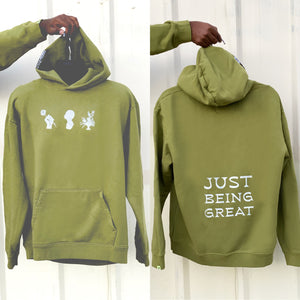 "Army Green Miss Green ""Being Great"" F&F Hoodie"