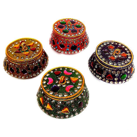 Lac Decorated Kumkum Box
