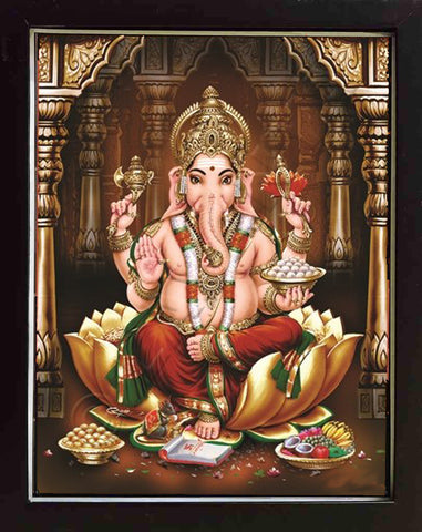 Lord Ganapathi Photo with Frame | Lord Ganapathi Photo |Gods Photo for puja, anarghyaa.com