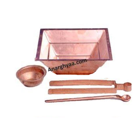 Copper Agnihotra Set, Copper puja items, anarghyaa.com