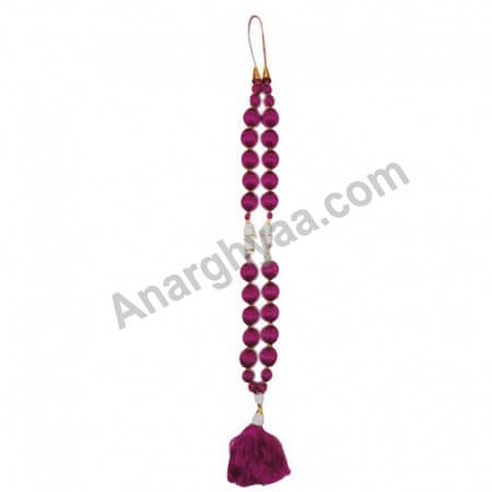 Silk decorative Mala, deity Mala, deity silk garland, puja accessories, puja items, anarghyaa.com, puja product