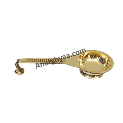 Brass camphor stand, anarghyaa.com, brass puja items