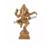Brass dancing Ganesha-idol, anarghyaa.com, brass puja items