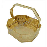 Brass flower basket, anarghyaa.com, brass puja items