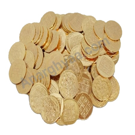Lakshmi Kubera 108 Coins, puja accessories, puja items, anarghyaa.com, puja product