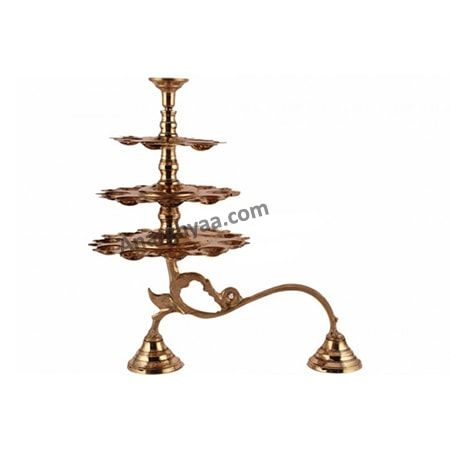 3 Step Arti Stand, Brass Puja Items online, Anarghyaa.com