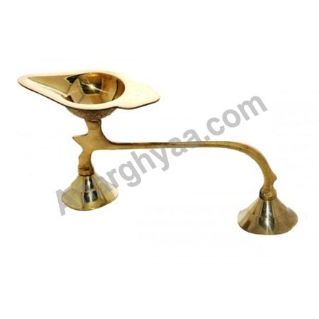 Single Face Arti Stand, Anarghyaa.com, Brass Puja Items, pooja Accessories, Online Religious Stores,  Pooja Items Online