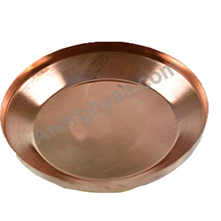 Copper Plate, Copper puja items, anarghyaa.com