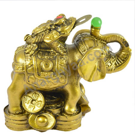 Feng Shui Elephant with Frog, Anarghyaa.com, Fengshui items online