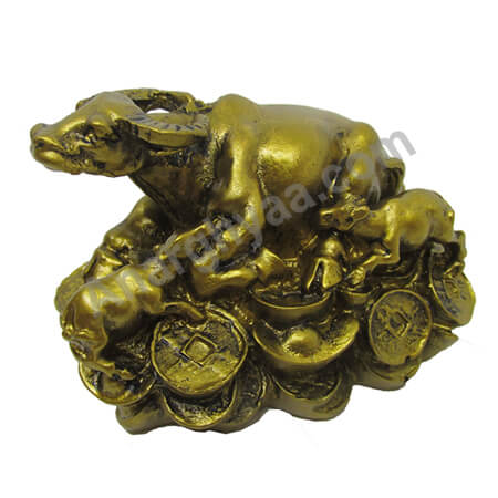 Feng Shui wish cow with coin, Anarghyaa.com, Fengshui items online