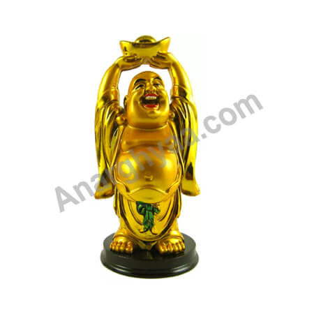 Feng Shui laughing buddha with ingot , Anarghyaa.com, Fengshui items online