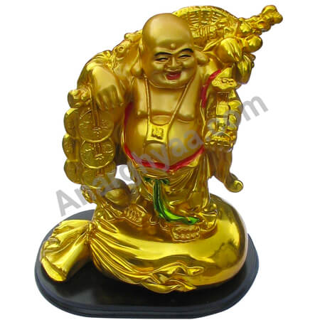 Feng Shui standing laughing buddha with coin , Anarghyaa.com, Fengshui items online