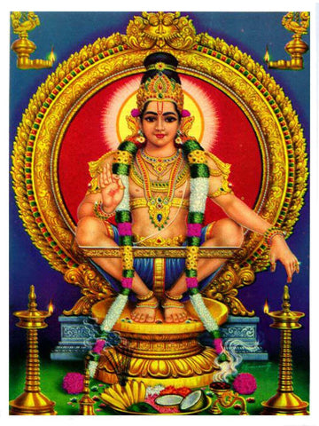 Lord Ayyappan Photo | Anarghyaa.com | Lord Ayyappan Photo  for Puja,God Photo, God Photo for Puja, Sabarimala puja items