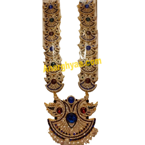 Deity Decorative Long Necklace, Haram, Temple Jewellery, Anarghyaa.com, Deity Accessories