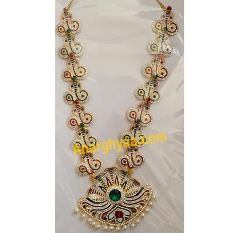 Deity Decorative Long Necklace, Temple Jewellery, Anarghyaa.com