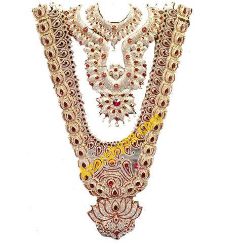 Deity Decorative Stonework Necklace Set Stonework Thomala