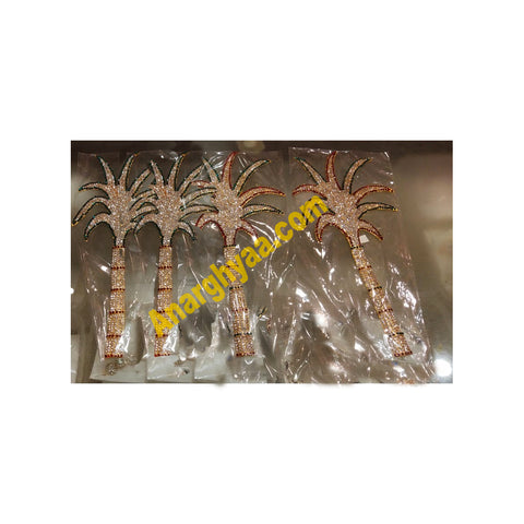 Stonework Banana Tree for Puja Decorative, Temple Jewellery, Anarghyaa.com, Deity Accessories