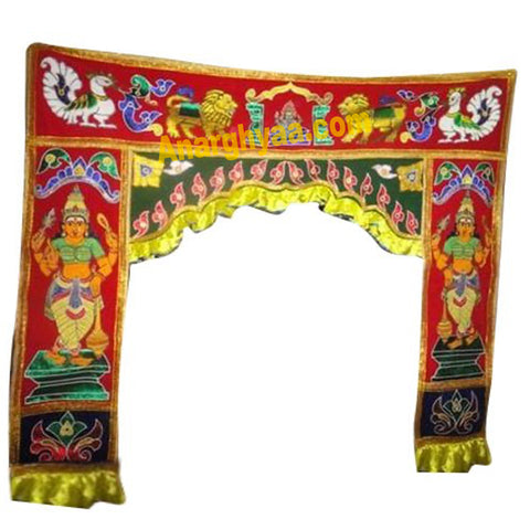 Entrance Decorative cloth / Vasal Thoranam / Vasalmalai for temple / home, Anarghyaa.com