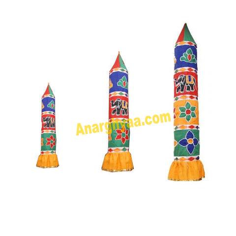 Traditional Decorative Thombai / Cloth Pillar for temples and at home, Anarghyaa.com
