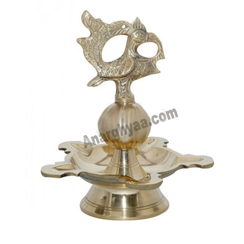 Brass Hanging Lamp with peacock / annam design, brass hanging lamps, anarghyaa.com