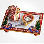 Marble Ganesha With Chowki and Diya, anarghyaa.com, return gifts